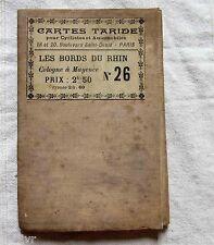 Allemagne Carte Taride DEBUT XX° LES BORDS DU RHIN de Cologne à Mayence