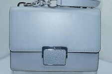 Michael Kors Cynthia SM Shldr Flap Bag Crossbody Handbag Gray Leather NWT