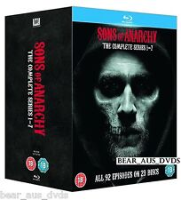 SONS OF ANARCHY 1-7 (2008-14) COMPLETE BIKER Drama TV Seasons Series NEW BLU-RAY