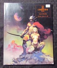 1992 CHRISTIE'S Auction Catalog Oct 31 FVF COMIC BOOK COLLECTIBLES Frazetta