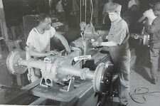 """Ford Tractor 2N assembly joining engine to rear 12X18"""" Black & White Picture"""