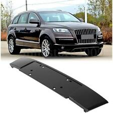 Gloss Bright Black Front Bumper Licence Bracket Plate Grilles For Audi Q7 10-15