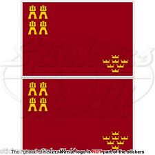 "MURCIA REGION Flag SPAIN Región de Murcia Spanish 100mm (4"") Stickers Decals x2"