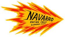 NAVARRO RACING EQUIPMENT DRAG RACE HOT RAT ROD DECAL VINTAGE LOOK STICKER