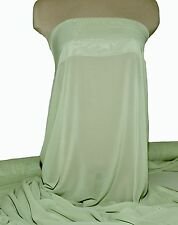 "CHIFFON FABRIC SHEER SAGE GREEN  POLYESTER 60"" BTY, BRIDESMAID, FORMAL, CURTAINS"