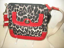 NEW WITH TAGS Crossbody COACH Black RED White Ocelot LEOPARD Shoulder Bag Purse