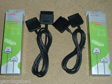 2 x PLAYSTATION 1 2 PS1 PS2 CONTROLLER EXTENSION CABLE BRAND NEW Boxed Lead Pair