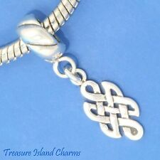 CELTIC ENDLESS KNOT .925 Solid Sterling Silver EUROPEAN EURO Dangle Bead Charm