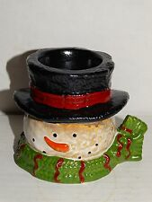 Yankee Candle Classic Top Hat Snowman Tea light holder New with tags