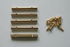 5x Gold Electric Guitar String Retainer Bar for Floyd Rose Guitar
