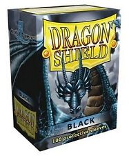 100 PROTECTIVE SLEEVES Black Nero MTG MAGIC Dragon Shield
