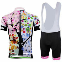Women's Cycling Jersey Short Sleeve (Bib) Shorts Ladies Cycling Kit Color Tree