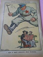 Humour Politique d'un Joug à l'autre encore des botte Alsace Lorraine Print 1936