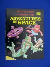 1960s  ADVENTURES IN SPACE COLOR BY NUMBER/ACTIVITY BOOK - SPACE DRESSES & MORE!
