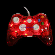 For Xbox 360 &PC Glow Light USB Wired/Wireless Gamepad Remote Console Controller