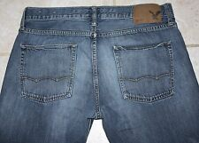 Men's American Eagle Outfitters AE Slim Straight Denim Jeans 33X32 Measure 35X31