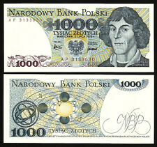 POLAND 1000  ZLOTY 1975 UNC P.146a MIKOLAJ KOPERNIK
