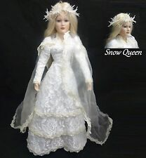 "20"" 1994 House of Lloyd Private Collection Porcelain Snow Queen Christmas Doll"