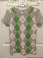 J.Crew Women Short Sleeve Cashmere Sweater, Multi, Size S