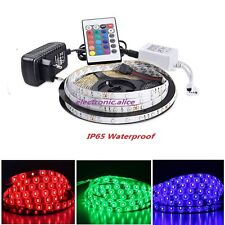 5M 3528 RGB 300 Led SMD Flexible Light Strip IP65 +24 key IR+ EU 12V 2A Power