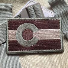 USA Colorado CO STATE FLAG USA ARMY MORALE TACTICAL MILITARY HOOK VELCRO PATCH