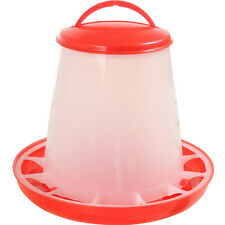 1.5kg Plastic Feeder Baby Chicken Chicks Hen Poultry Feeder Lid & Handle Red