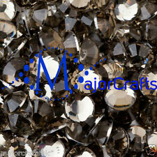 200pcs Grey Black Diamond 8mm ss40 Flat Back Resin Rhinestones Diamantes C17
