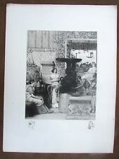 Rare Antique Engraving Roman Sculpture Gallery by Blanchard after L. Alma-Tadema
