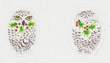 *NEW* ~ Snowy Owl Ornament or Scissor Case HP Needlepoint Canvas Susan Roberts