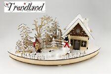 Swibbogen Schneewald G480593 Deko Holz  Weihnachten Fensterdeko LED Winter Wald