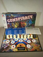 Conspiracy board game 1982 Milton Bradley Vtg Spy International Espionage Bluff