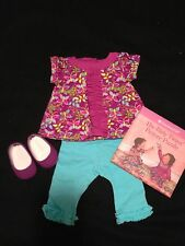 NIB! American Girl Bitty Baby Butterfly Tunic Outfit + Puzzle