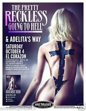 "THE PRETTY RECKLESS ""TO HELL TOUR"" 2014 SEATTLE CONCERT POSTER - Taylor Momsen"