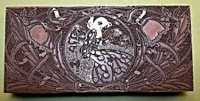 """LARGE ART NOUVEAU BOOKPLATE"" PRINTING BLOCK."