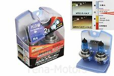 2x MTEC H4 12V 60W/55W Headlights Halogen Fog Bulb 4350k SUPER WHITE HID CLASS
