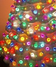 70 Large GLOBE Light 9 COLOR fit vintage Ceramic Christmas Tree Bulb star twist