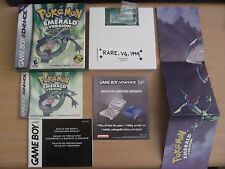 Authentic Pokemon Emerald Version CIB Complete Box Nintendo Game Boy Advance GBA