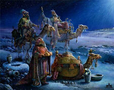 And Wise Men Came Bearing Gifts by Tom duBois Religious Christmas Art Print 9x12