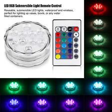 LED RGB Light Submersible Waterproof Wedding Party Vase Base Light + Remote CT