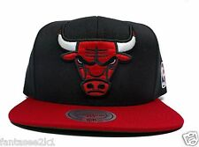 Chicago Bulls Mitchell & Ness XL Logo Black 2 Tone STA3 HWC Snapback Hat Cap NBA