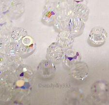 144x SWAROVSKI 5000 CLEAR CRYSTAL AB 2mm ROUND CRYSTAL BEAD