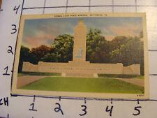 Unused Postcard: GETTYSBURG, PA: Eternal Light Peace Memorial 44757