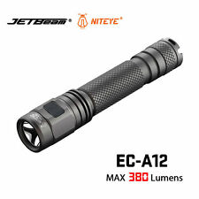 JETbeam NITEYE EC-A12 Cree XP-L 380LM Rechargeable LED Flashlight for Camping