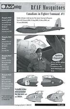 Aviaeology Decals 1/24 RCAF DE HAVILLAND MOSQUITO Canadians in Fighter Command