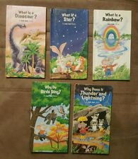 A JUST ASK BOOK 5  Book Lot WEEKLY READER BOOKS Children's Nature Science VGC