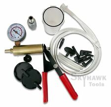BRAKE BLEEDER & VACUUM PUMP Gauge Test Tuner Kit (2 IN 1 SET ) Auto Hand-Held