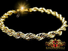 Authenthic 10K Real Gold Women's Thick  Rope Twister Bracelet 9 Inch 4mm 3.1 GrM