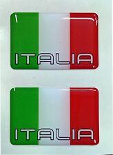 2x Flagge 3D Emblem Aufkleber Italien Italia Italy Auto Motorrad Tricolore Helm