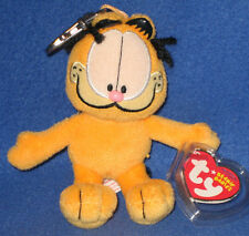 TY GARFIELD the CAT BEANIE BABY KEY CLIP - MINT with MINT TAGS