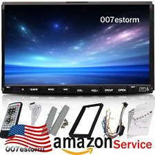 "US SHIP 7"" Double 2Din Touch Screen Car CD DVD MP3 Player In Dash Stereo Radio"